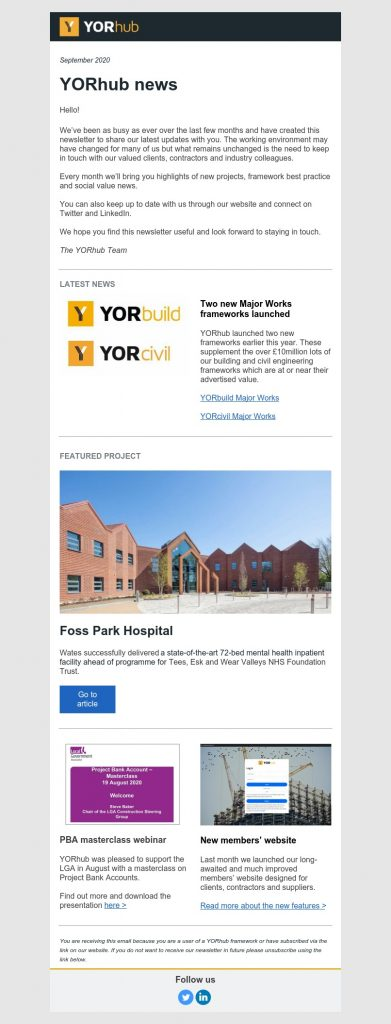 YORhub Newsletter September 2020
